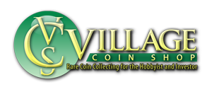 Village Coin Shop Logo