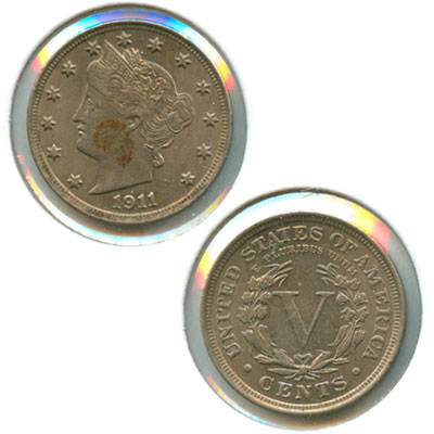 Village Coin Shop: 1911 Liberty Nickel (AU Details)