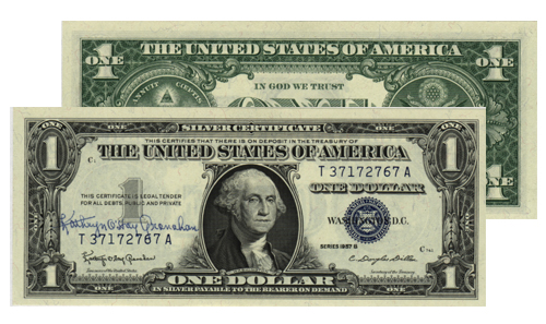 Village Coin Shop: 1957-B $1.00 Signed Silver Certificate (CU)