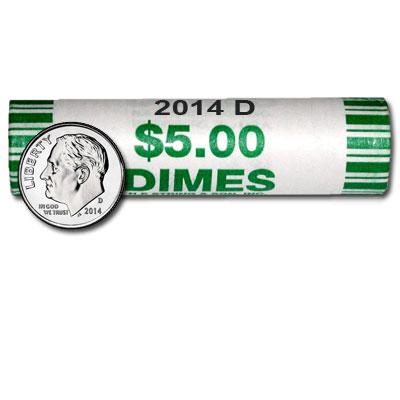 BU ROLL OF 2014-D  DIMES