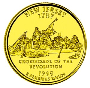 1999-P Gold Plated Quarter (New Jersey)  sc 1 st  Village Coin Shop & Village Coin Shop: 1999-P Gold Plated Quarter (New Jersey)