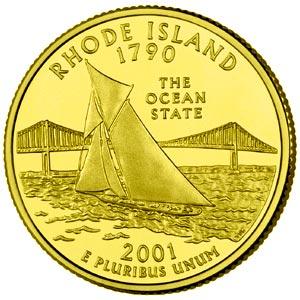 P State Quarter Roll 2001 Rhode Island